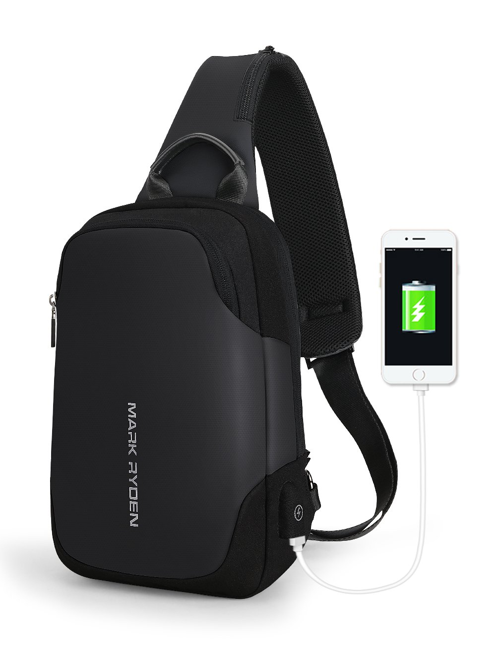 Mark Ryden Anti-theft Sling Chest Bag Handbag for Men Waterproof Crossbody Travel Shoulder Bag Fit for 9.7'' ipad