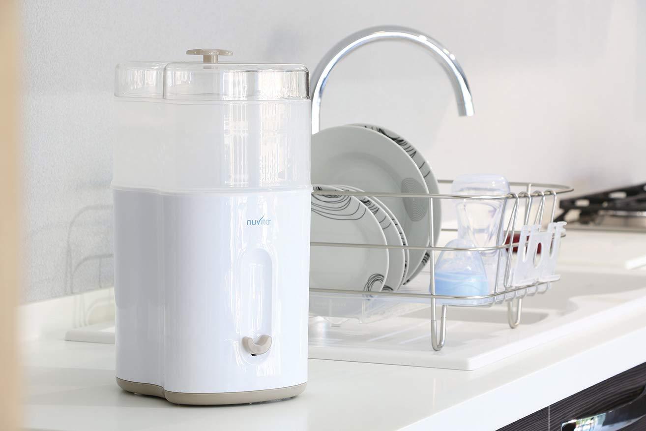 Amazon.com: Nuvita Stérilisateur à Vapeur Stericompact Blanc ...