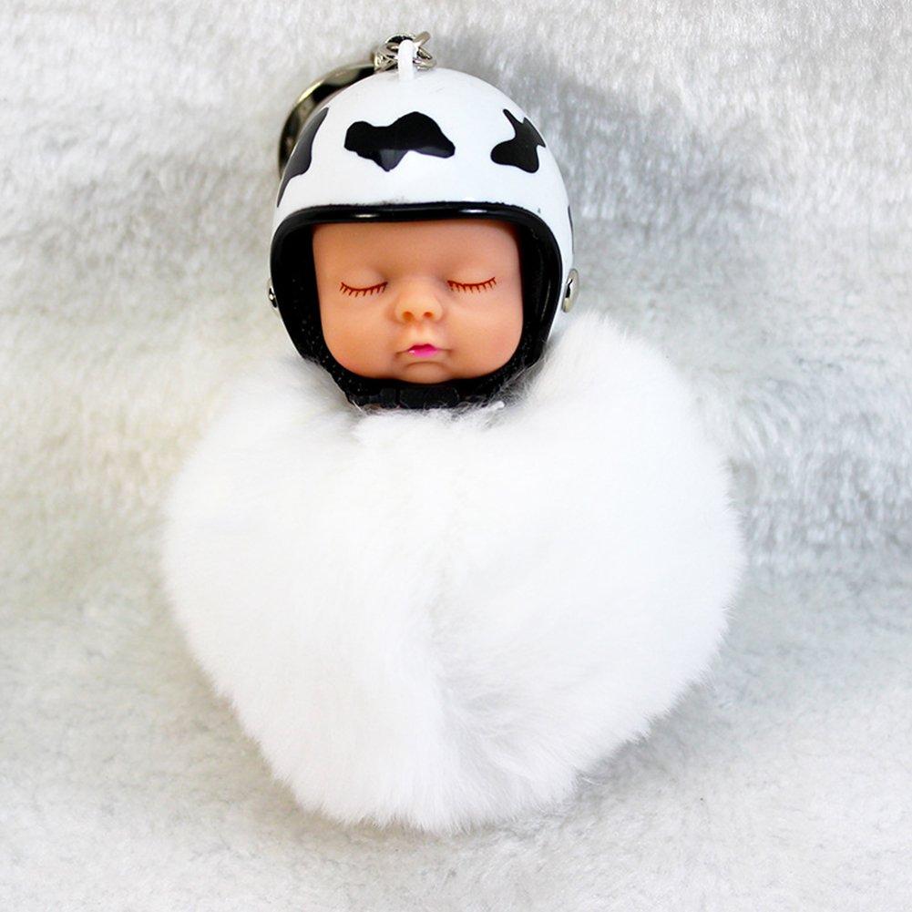 Quanjucheer - Llavero, diseño de bebé dormido con casco (con ...