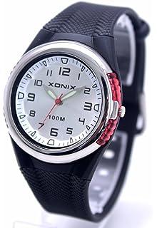 100m Water Resistant Waterproof Ladies Black Rubber Strap Analog Luxury Sport Watch RL-002