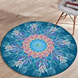 LONIY Fashion Colorful Indian Round Scarve Fashion Tapestry Beach Mat Picnic Rug Blanket Polyester Lawn Mat