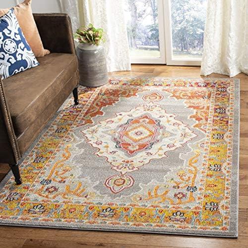 Safavieh Phoenix Collection PHX158T Area Rug, 8 x 10 , Orange Grey