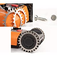 Tacos de acero inoxidable para mejorar la tracción para robot cortacésped Worx Landroid S, M, tamaño de rueda de 205 mm