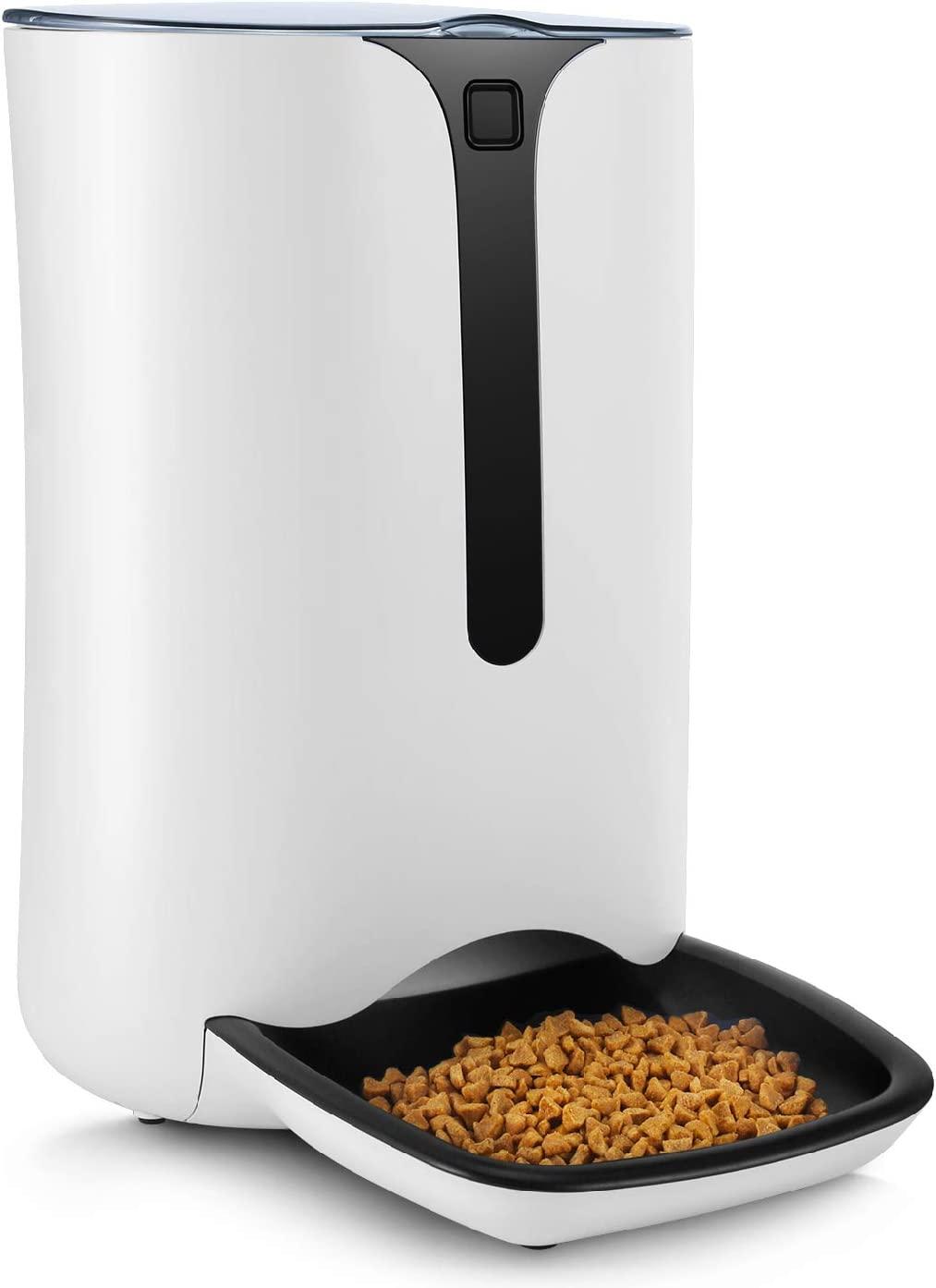 Flexzion Automatic Pet Feeder Food Dispenser/f Cats Dogs & Small Animals w/Programmable Timer, Meal Portion Control, Voice Recording & Playback, Electronic Auto Timed Food Dispenser up to 4 Meals