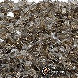 1 Pound Bag of 1/4'' Chestnut Bronze Metallic Fireglass