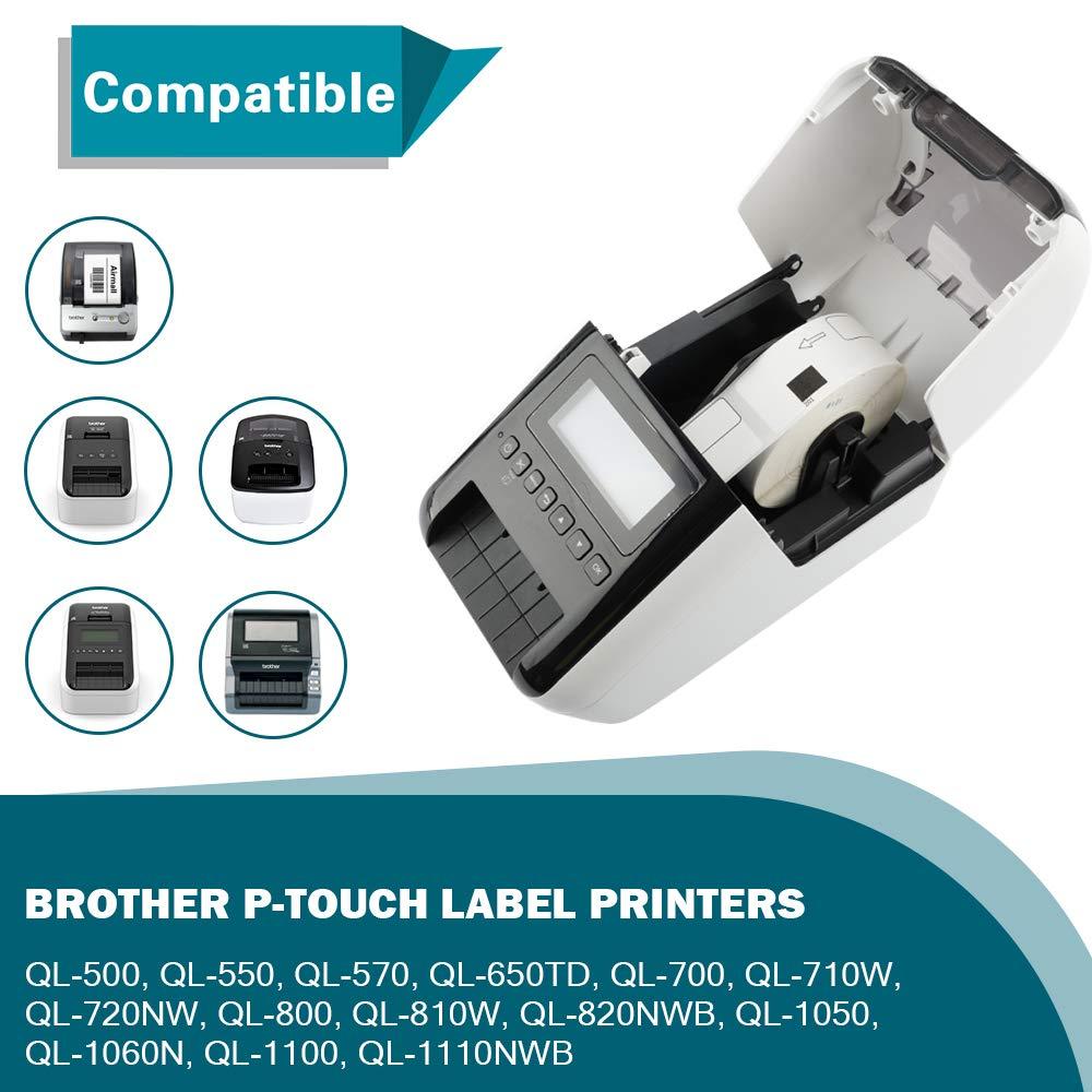 Amazon.com: 12 rollos compatibles con Brother DK 1201 ...