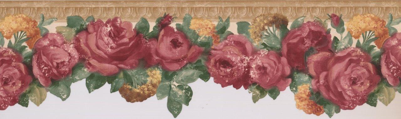 Vintage Blooming Magenta 681403 Wallpaper Border