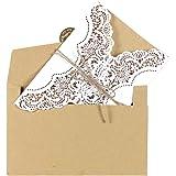 OurWarm Lot de 50 Soir Invitation de mariage avec enveloppes kraft brun carte inserts
