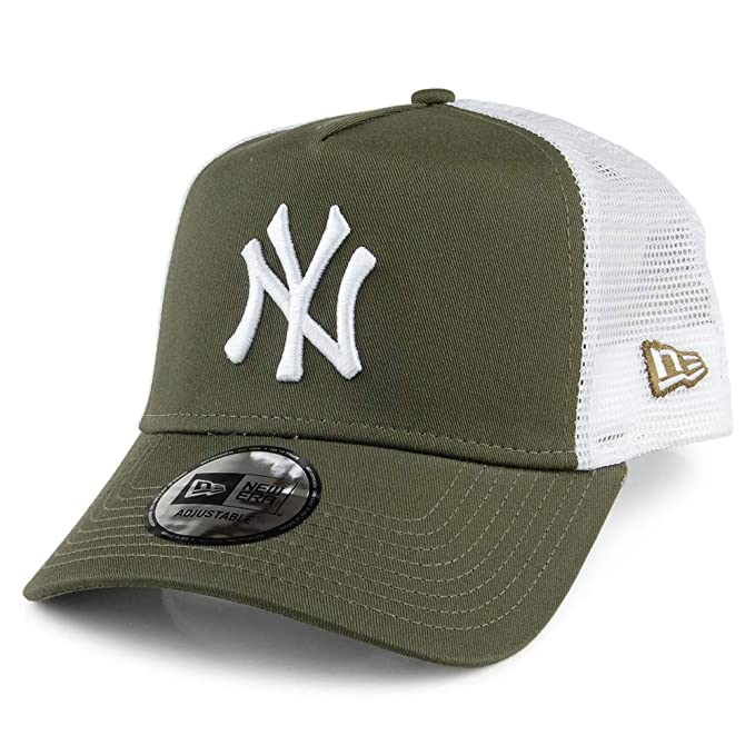 A NEW ERA Gorra Trucker A-Frame York Yankees Verde Oliva - Ajustable