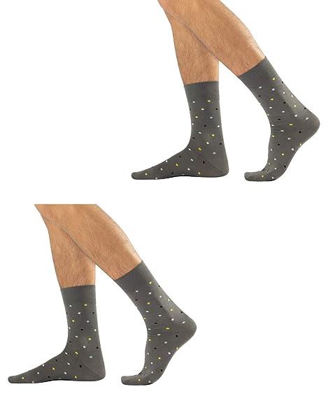 nuova alta qualità massimo stile varietà di design 2 Paia di Calze da Uomo Eleganti e Colorate, Calzini Uomo in ...
