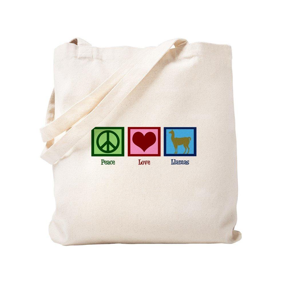 CafePress – Peace Loveラマ – ナチュラルキャンバストートバッグ、布ショッピングバッグ S ベージュ 0655329048DECC2 B0773VP7JY S