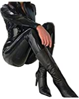 Forever Young PVC Catsuit Catwoman Costume Fancy Dress Bodysuit Dress