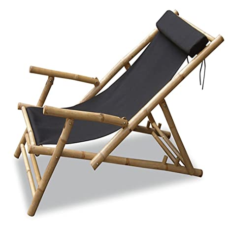Superieur Heather Ann Creations Bamboo Folding Sling Chair With Arms And Head  Cushion, Pack Of 2