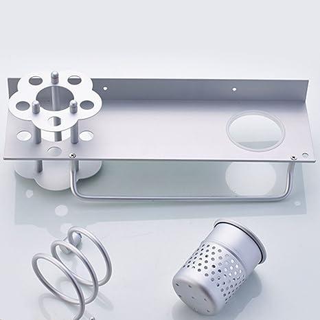 Cuarto de baño estante, zacy peine, secador de pelo soporte de almacenamiento de baño
