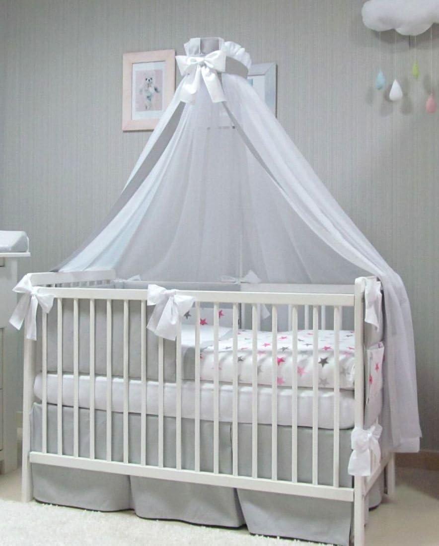 baldaquin, moustiquaire Babymajawelt/® Parure de lit de b/éb/é de 4/pi/èces housse de couette 100/x 135 cm pour lit de b/éb/é de 70/x 140/cm ciel tour de lit
