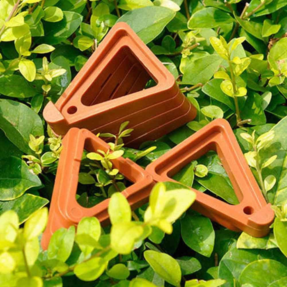 Plant Pot Feet 12pcs Stand Supports Bonsai Triangle Non Slip Toes Practical Invisible Risers Lifters Display Garden Flower Indoor Outdoor