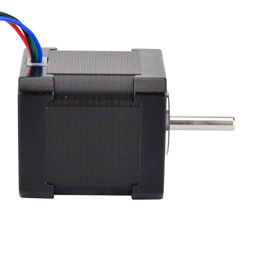 2 A 42 x 48 mm 4 fils avec c/âble de 1 m et connecteur pour 3D DRUCKER//DIY CNC Lot de 5 moteurs /à pas /à pas Nema 17 Bipolar 59 Ncm 84oz