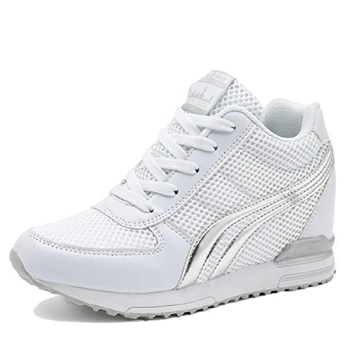 LILY999 Scarpe Donna Sneakers Zeppa Interna Scarpe da Ginnastica Sportive  Fitness Basse Interior Casual all  18369029969