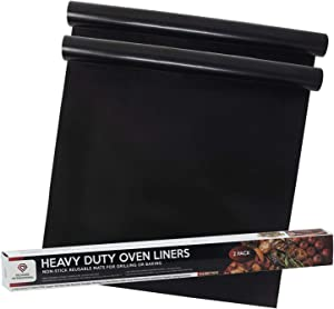 2 Pack of Nonstick Oven Liners for Bottom of Electric Oven - Easy to Clean Silicon Oven Liner - Heavy Duty Non Stick Oven Liner - Oven Mat - Oven Protector Liner - Oven Liners for Bottom of Gas Oven