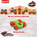 Kidzlane Remote Control Car -Mini Double-Sided Stunt Car - Cool Antics & Tricks