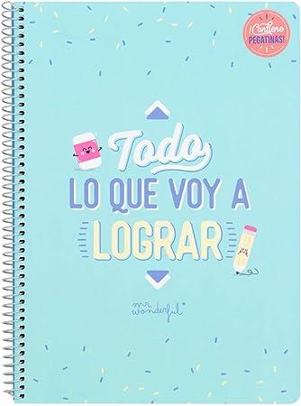 Mr. Wonderful Todo Lo Que Voy a Lograr Libreta, Multicolor, Talla Única: Amazon.es: Hogar
