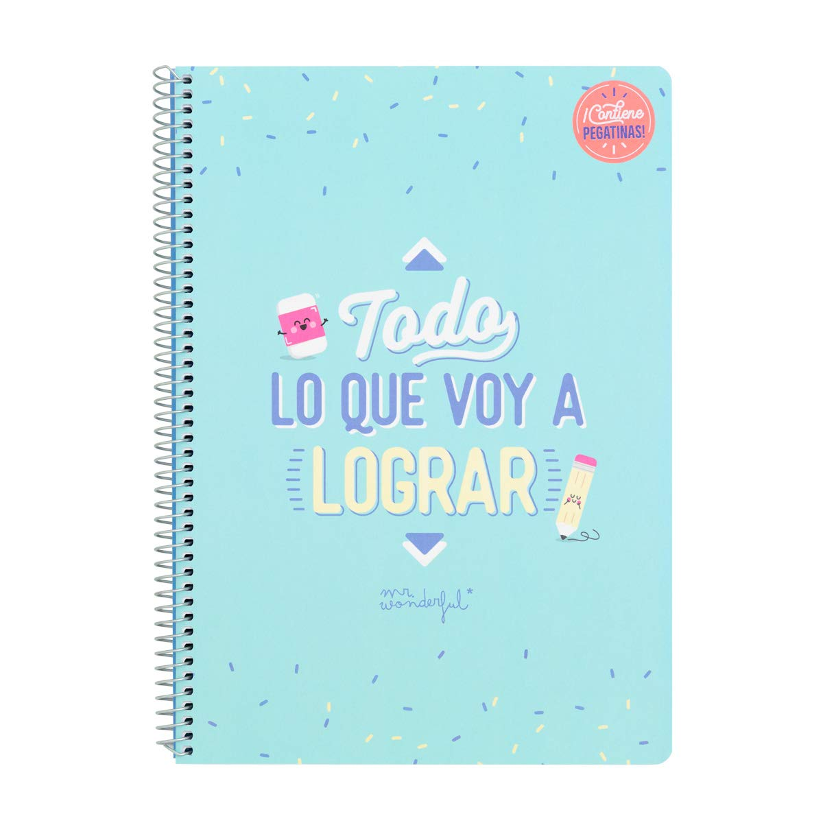 Mr. Wonderful Todo Lo Que Voy a Lograr Libreta, Multicolor, Talla ...