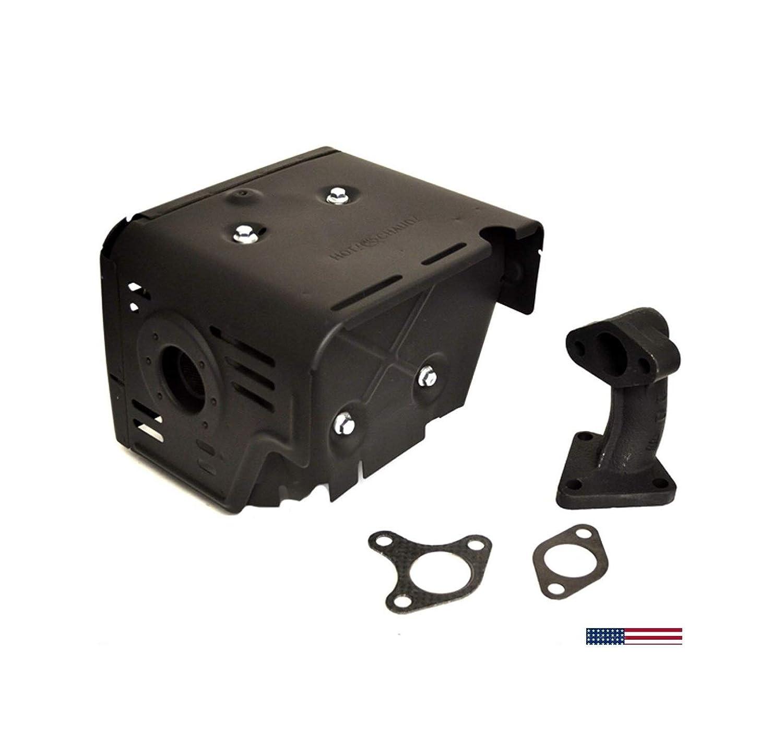 Hоndа Gx390 13HP Muffler Manifold with Gaskets Heat Shield Gx340 11HP Gx 340 390