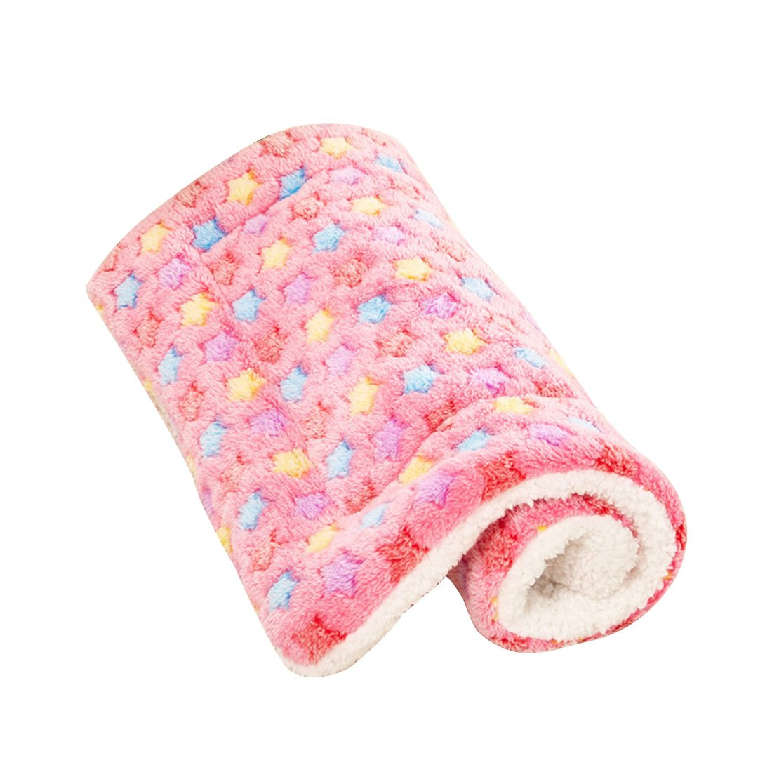 Luwu-Store Pet Dog Cat Rest Blanket Breathable Dog Cat Bed Soft Warm Sleep Mat Pink Size M