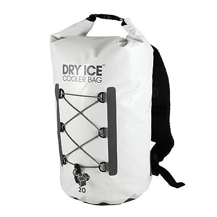 Dry Ice Cooler Mochila Nevera Portátil 20 Litros Blanco Impermeable D003WHT