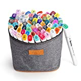 80 Colors Arrtx Alcohol Based Art Markers Dual Tip with Carry Bag, Artist Drawing Marker Pen Set for Sketch Paint Design Draft Writing Highlighting