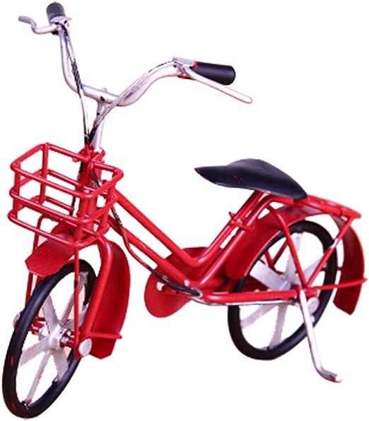 qucaojiu Clásico Retro Hecho A Mano Modelo de Bicicleta Decoración ...