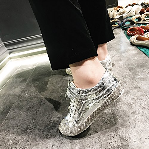 GUNAINDMXShoes/Shoes/Shoes/Shoes/All-Match/Spring/Winter/Running Shoes silvery