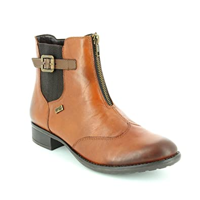 7cf14c464d87 Remonte R6451-24 HISPATEX Chestnut Brown Womens Ankle Boots  Amazon.co.uk   Shoes   Bags