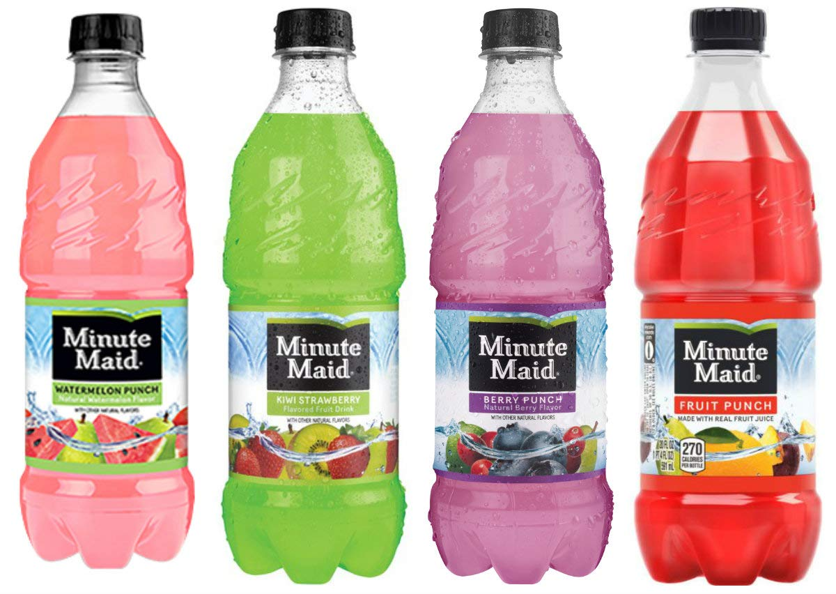 Minute Maid Fruit Punch - 12, 20 ounch Bottles (4 Flavor Variety Pack)