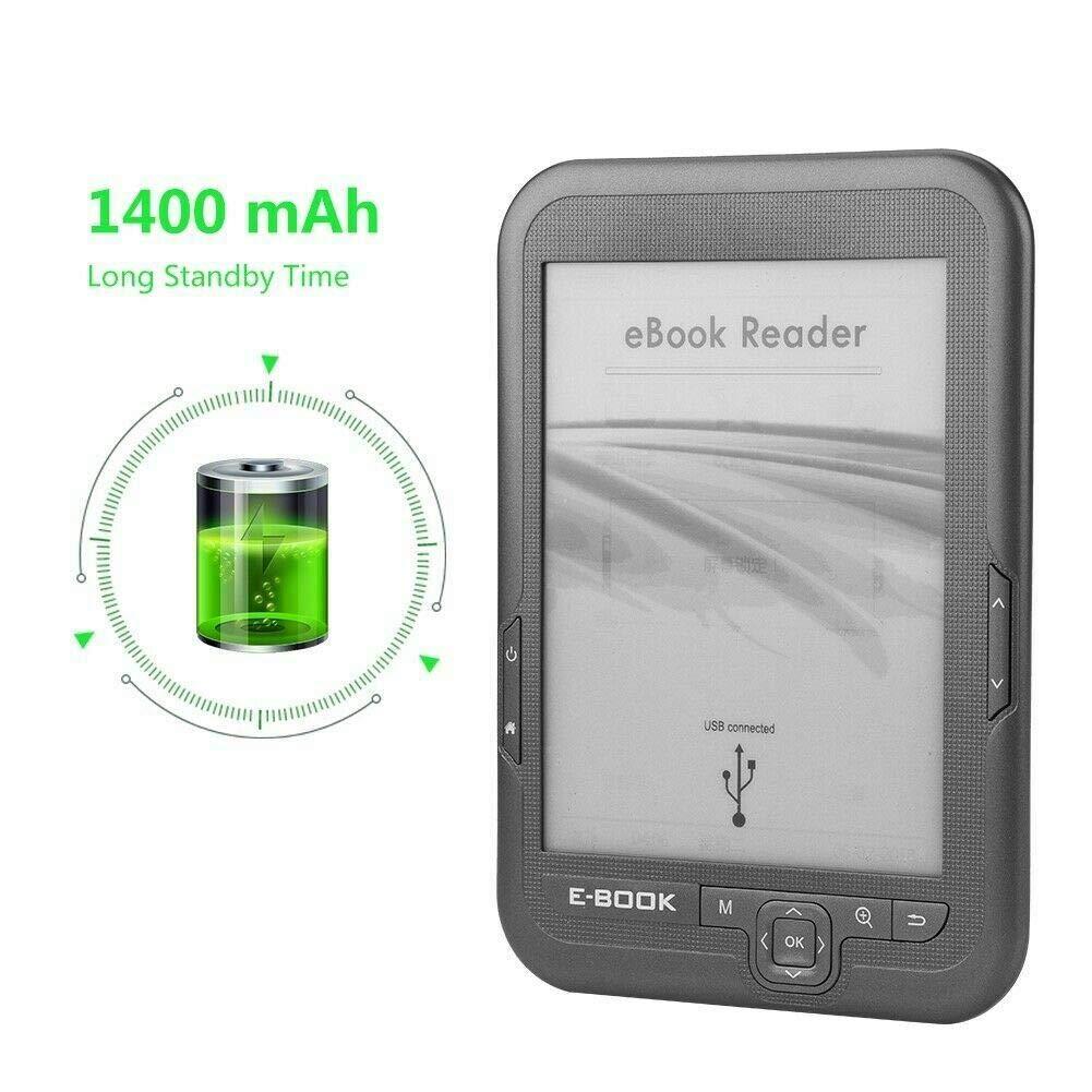 CUHAWUDBA Lector de Ebook de 6 Pulgadas y 4 GB E-Ink Capacitiva e ...