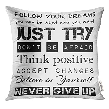 Amazon Golee Throw Pillow Cover Black Inspirational