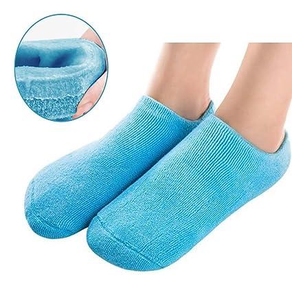 Pinkiou Suavizante Spa Gel Calcetines para la piel agrietada Hidratante Cuidado de los pies Exfoliante Dry
