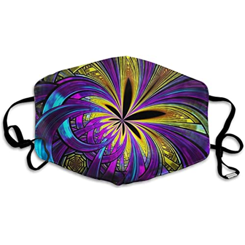 Picture of Comfortable Two Layer Dust Mask, Soft Modern Tie Dye Weed Abstract Art Purple Face Mask Cover Mouth for Adults and Teens