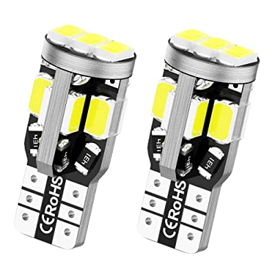 T10 LED Bulbs Extremely Bright 11-EX Chipsets 194 168 LED Bulb 6000k White for Car Interior Dome Map Door Courtesy License Plate Lights W5W 2825 175 LED Bulbs Pack of 2: Automotive