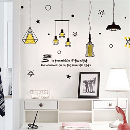 Amazon.com: moon-1 3D DIY chandelier Removable Wall Decal Family ...