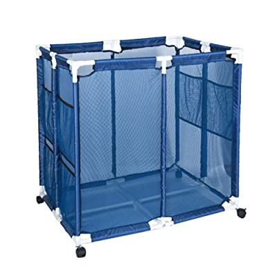 OCEANPAX Blue Pool Storage Bin, Pool Organizer Pool Storage Containers Basketball Volleyball Storage Beach Toy Storage Mesh Storage Bins for Kids Holiday Maker and Beach Party : Garden & Outdoor
