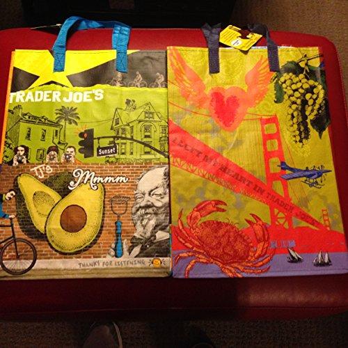 Trader Joe's California both Southern and Nothern Reusable Shopping Grocery Bags Totes San Fran & LA