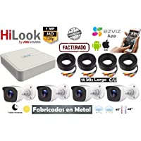 Hikvision Kit Circuito Cerrado 4 Camaras Metal Hd720p Hilook Kit7204bm