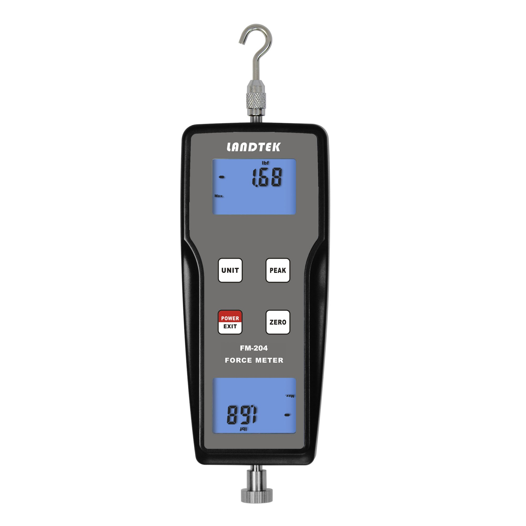 FM-204-100K Digital Force Gauge Push Pull Gauge Tester Meter 3 Measurement Units N, kg, lb by SULMILE