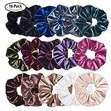 #8: VEMAI 16 Pack Hair Scrunchies Velvet Scrunchy Elastics Bobble Hair Bands Ties Scrunchies