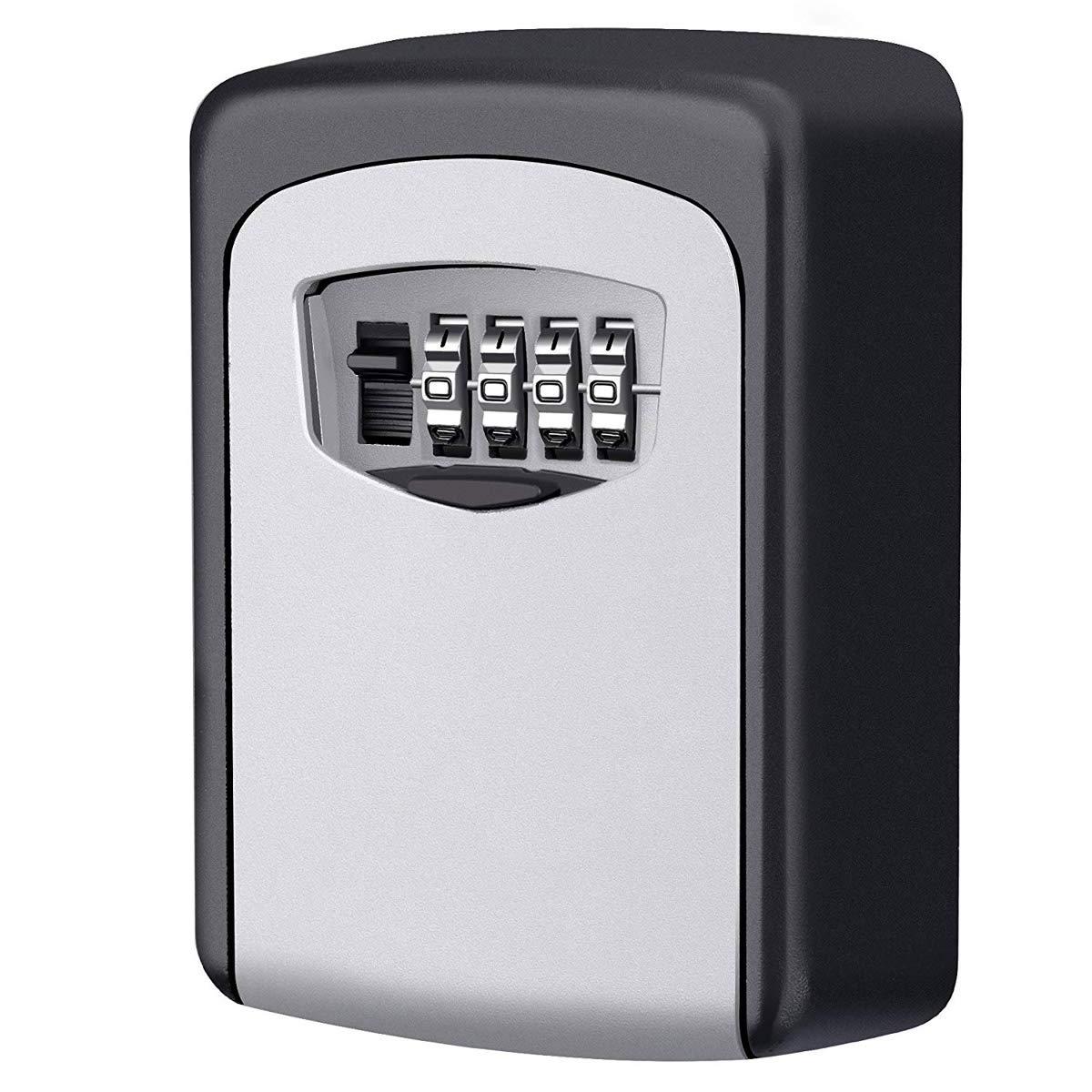 Caja Fuerte Candado para llaves, Candado de Seguridad con Combinació n 4 dí gitos,Caja de Seguridad para Llaves, se puede clavar en la pareds, Adecuada para el Hogar, el Garaje y la Granja,ect Candado de Seguridad con Combinación 4 dígitos