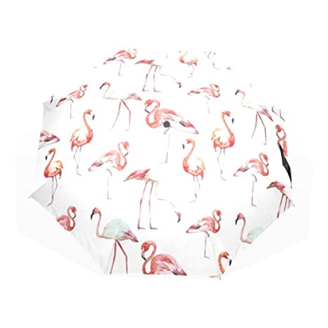 Flamingo UV Paraguas Sunscreen Parapluie Rain Custom Umbrella Foldable Custom Umbrella Wind Resistant Travel Custom Umbrella