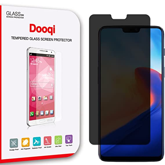 newest collection 4700d bb708 2X Dooqi OnePlus 6 Privacy Anti-Spy Tempered Glass Screen Protector Saver