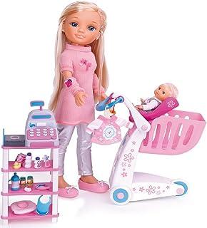Nancy - De compras con su hermanita, dos muñecas y accessorios (Famosa)