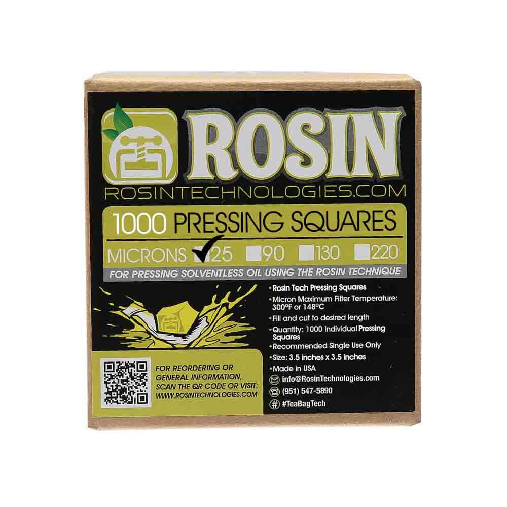 Rosin Technologies 25 Micron Pressing Squares (1,000 Pack)